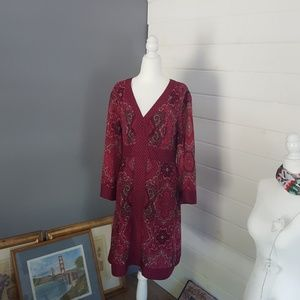 New York and Company pink paisley dress.